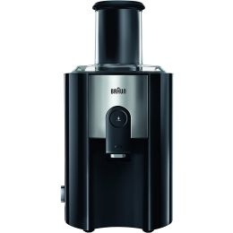 Braun J500BK NEW Multiquick 5 Spin Juicer Extractor for Whole Fruit 1.25L Black