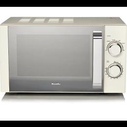 Breville B17E9CMSC Freestanding Manual Microwave Oven 17L 800W - Cream