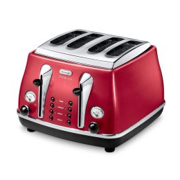 De'Longhi CTOM4003R NEW 1800W Micalite 4-Slice Toaster with Defrost Function