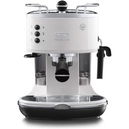 De'Longhi ECOM311.W NEW Ground & Pods Coffee Machine Icona Micalite White
