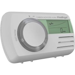 FireAngel CO-9D NEW Digital LCD Sealed for Life Carbon Monoxide Alarm 85dB White