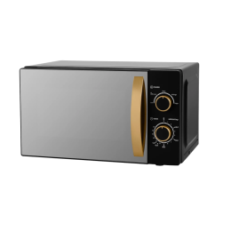 George Home GMM101GMB-20 NEW Manual Microwave Oven 700W 17L Matte Black & Gold
