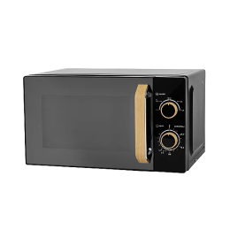 George Home GMM101WB-20 Manual Control Microwave Oven 17L 700W - Wood & Black