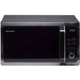Sharp R274KM NEW Solo Microwave Oven with 10 Auto Menu Options 20L 800W - Black
