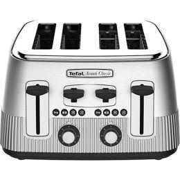 Tefal TT780E40 Avanti Classic Stainless Steel 4 Slice Toaster Silver