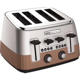 Tefal TT780F40 Avanti Classic Stainless Steel 4 Slice Toaster Cooper